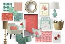 Decor Aqua & Coral / Master Bedroom / by Katie Conrad
