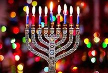 """Hanukkah  / """"Hanukkah, oh Hanukkah, come light the menorah Let's have a party, we'll all dance the hora Gather 'round the table, we'll give you a treat Dreidles to play with and latkes to eat.""""  / by Dianne Koenig Mejia"""