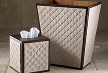 Luxurious Leather Waste Baskets / by Labrazel Home