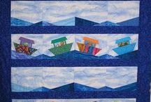 Quilting:Nautical Designs / Sail Boats, light houses, anchors everything nautical sewn up in a quilt. / by Penny Spinster
