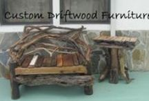 """Driftwood and Willow Twig Furniture and Home Decor / Also see separate Board called """"Driftwood Art"""" / by Nancy Bryson"""
