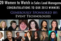 20 Women to Watch in Sales Lead Management 2013 / by Sales Lead Management Association