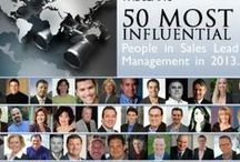 50 Most Influential 2013 / These are the 50 most influential in Sales Lead Management as voted on by the members of the Sales Lead Management Association for 2013. / by Sales Lead Management Association