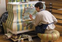Painted/depocauge/stenciled Furniture / by Barb D