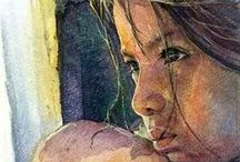 Art: Aquarel / Watercolor art / by Kwalitisme