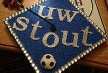 Creative at Commencement / A number of UW-Stout graduates took the opportunity to accessorize their mortarboards, from simple designs to creations that friends and family couldn't miss.  / by University of Wisconsin-Stout