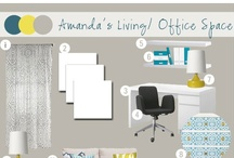 Mood Board: Amanda's Living/ Office Space / by Jessie @ Cape 27