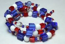"Red, White, and Bead / Let Freedom ""bling"" with 4th of July, Labor Day, Flag Day and any other excuse to wear red, white, and blue!  #freedom #usa #america #beads  / by Prima Bead"