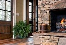 Backwoods Cabin & Lodge Style / Warm, rustic, woodsy... Who can't resist exposed wood beams and the tradition of cabin life?  / by Barn Light Electric Co.