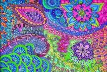 Zentangles/Doodles/Drawings / Zenzs, Tangles & Drawings / by Virginia Hale