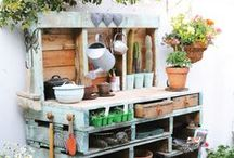 Gardening ✿ Sheds   Potting Benches / Garden Sheds and Potting Benches :) / by Jollie K