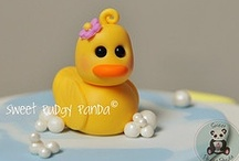 Addie's 1st Birthday / Ideas for Addie's first birthday party - duckie theme with bright yellow, bright pink, and tiffany blue for colors / by the workaholic momma