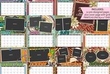 Digital Scrapbook Calendars / by Peppermint Creative