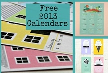 Free 2013 Calendars {printables} / free printable calendars for 2013 - handmade calendars / by Everything Etsy