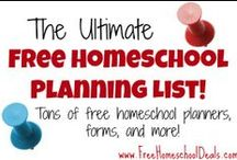 Free Homeschool Planners / Free Homeschool Planners / by Jamerrill Stewart {FreeHomeschoolDeals.com}