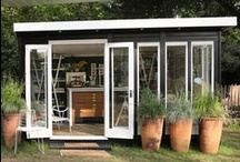 Garden Shed // Pool House / by Serendipity Garden Designs