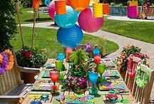 Pool Party Themes & Ideas / Fun and festive ideas for a summer pool party. Find more information on pool party themes, food, decorations, and games at http://www.poolspaoutdoor.com/blog/entryid/96/pool-party-ideas-party-themes-decor-and-games.aspx / by PoolSpaOutdoor.com