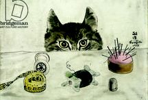 cats in art / paintings of cats in art history / by Bridgeman Images