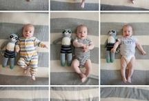 Month-by-Month Baby Shots / Tons of ideas for month-by-month baby photo sessions. / by Pregnant Chicken