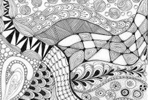 Art, Zentangle and Doodles / Great colors, patterns and Zentangles. / by Christine Reyes