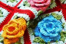 knitting and crochet with color / color texture projects all are combined in a knit or crochet project.  Do you know that when I am knitting, my DYSTONIA goes away?? Too bad I only make squares or rectangles!!   / by Karen Rapport