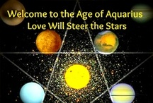 """the age of Aquarius / """"When the moon is The seventh house and Jupiter aligns with Mars, Then Peace will guide the Planets and Love will Guide the Stars This is THE DAWNING OF THE AGE OF AQUARIUS""""  Song lyrics by The Fifth Dimension - The Age of Aquarius  / by IssiLen"""