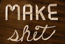 craft • make ▼ /  Get excɪted & make stuғғ  / by Bee Wonky
