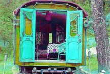 on the wagon / what's up with my fascination of gypsy wagons? / by Jeannine Nordan