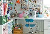 Craft/ Art/ Work/ Spaces/ Scraprooms / by tammy inman