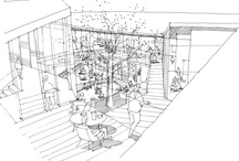 Illustration and Sketch / including architectural drawing/presentation / by wannida