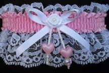 Pink - Rose - Mauve Garters for Wedding Bridal Prom Fashion / Guilty Pleasures. There are 30 shades of Pink Rose or Mauve satin band and trim Garters to choose from on white black or ivory lace. Pink Wedding Garters - Pink Bridal Garters - Pink Prom Garters - Pink Fashion Garters - Pink Fancy Bands™ Trademark Garters at Custom Accessories Garters LLC - www.garters.com  / by garters.com