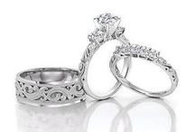 His and Hers Ring Sets / These rings go together as perfectly as the bride and groom <3 / by Paloma Blanca
