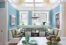Dream Home: Nooks & Spaces / The best in home decor for nooks and small spaces: library, home office, entryway, sitting area, breakfast area, pantry, laundry room and more. / by Frank Howard Allen