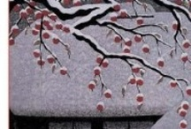 Japanese Prints and Paintings / Japanese prints that depict a Japanese umbrella will be found on the board named (you see this coming) Japanese Umbrellas in Japanese Art.  This board includes a few American artists who worked extensively in Japan. Ryohei Tanaka has his own board. There's also a board on Bridges in Japanese Art (may not be exact title).  / by Sam Pryor