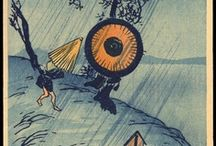 Japanese Umbrellas in Japanese Art / I couldn't resist this. So many Japanese woodblock prints portray umbrellas in the snow or rain that I thought it'd be fun to pull them together with photos of the same subject. And it has been...some amusing moments along the way and the discovery of how much Japanese (or Chinese) umbrellas were used in European paintings in the early part of the 20th century.  / by Sam Pryor