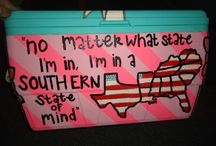 Keepin' His Booze Cold / Painted fraternity coolers for formal & other events. / by Tiffany Leiva