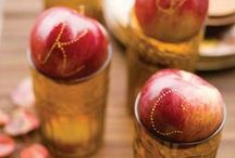 Favorite Apple Projects and Crafts / Apples are a fall icon, and it's nice to bring some of those pretty apple colors and images into your fall decor.  Here are some great projects, ideas, and inspiration to do just that. / by Matt and Shari