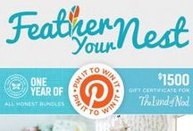 Feather Your Nest: Pin It to Win It  / The Honest Company and The Land of Nod want to help you #FeatherYourNest! We're pinning everything to create safe + stylish rooms for your kiddos. And we want you to pin it to win it!   One random winner will be chosen to receive 1 year of all Honest Bundles + a $1500 gift certificate for The Land of Nod. ENTER: http://on.fb.me/16lrwck / by The Honest Company
