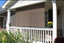 Exterior Solar Screen Shades | Outdoor Shades / Exterior shades hold up to the elements and allow you to control the amount of sun light entering your home. Every Blinds Chalet exterior shade comes with a durable construction and hold down brackets to keep them from swaying when lowered. Outdoor Shades are perfect for the summer months. Head over to www.blindschalet.com and order your outdoor solar screen shades today. / by Blinds Chalet