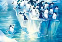 Penguin Art | Groups / I am happy to share. Please feel free to pin whatever you like with any caption you please. No daily or other limits! / by Mimmi Penguin