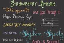 Fonts / by Jessica Orians