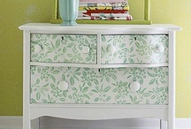 Furniture: Up-cycle, paint, stencil! / Furniture pieces can be given a second life with some paint and stencils! Here are some creative ideas for stenciled and painted furniture. / by Cutting Edge Stencils