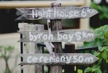 Wedding Signs / by Byron Bay Celebrant Michelle Shannon