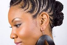 Cornrow hairstyles / Cornrows to high puff / by Leisa Smith