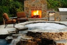 Outdoor Spaces & Pools / by Leanne Ross