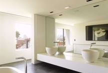 BATHROOMS, LIGHT, WHITE, NATURAL TONES /  I prefer lighter bathrooms FOR MINE AND THE GIRLS                  / by Jane Bird