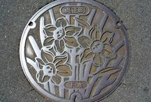 manhole cover art / by kiyoko