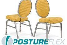 The PostureFlex SFB / Flexback Stackable Banquet Chair by Bertolini Hospitality & Design. / by Bertolini HD