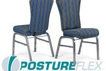 The PostureFlex UE / Flexback Stackable Banquet Chair by Bertolini Hospitality & Design. / by Bertolini HD