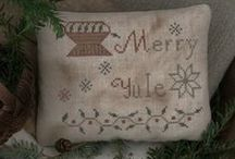 Yule & Winter Needlework / Needlework, such as quilting, crochet, & cross stitch, with the themes of Yule, Christmas and winter. The crocheted snowflakes have their own board, however. / by Garden Introvert
